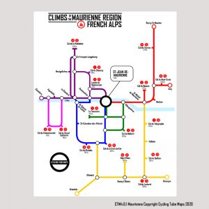 Maurienne Valley Cycling Map
